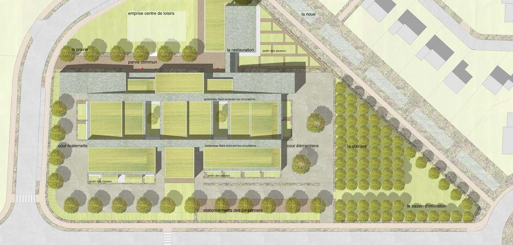 Plan De Masse D'une Ecole