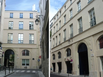 "Facade renovation of the ""Mozart house"" in Paris"