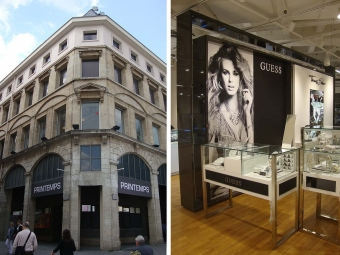Facade renovation and interior fit-out of the PRINTEMPS department store in Rouen