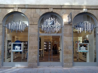 SWAROVSKI jewelry store in the historical centre of Rennes