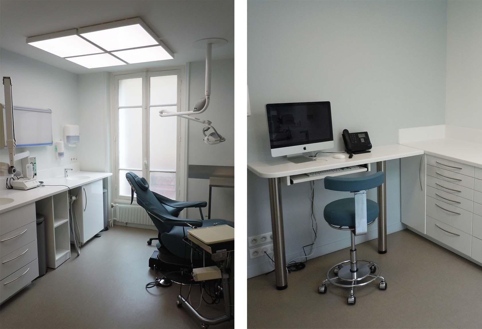 transformation d 39 une cabinet dentaire existant paris 16 me sam l mau architecture. Black Bedroom Furniture Sets. Home Design Ideas