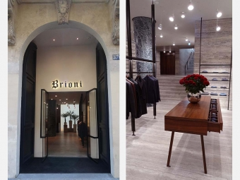 BRIONI store in Paris, rue Saint Honoré