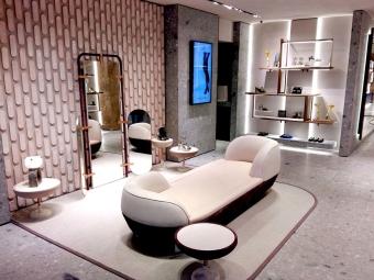 SERGIO ROSSI store in Paris, rue du Faubourg Saint-Honoré